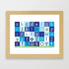 Alphabet_It's a boy_BABY BLUES 2012 Framed Art Print