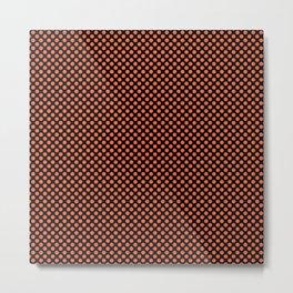 Black and Firecracker Polka Dots Metal Print