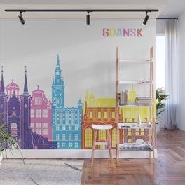 Gdansk skyline pop Wall Mural