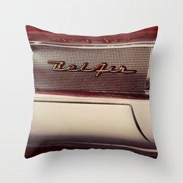 Classic Car Photography Chevy Belair Logo Throw Pillow