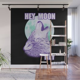 Hey Moon Hey Wall Mural