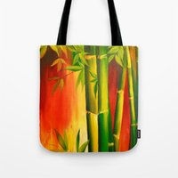 bamboo Tote Bags featuring Bamboo by OLHADARCHUK