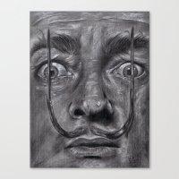 salvador dali Canvas Prints featuring Salvador Dali by Black Magic Woman