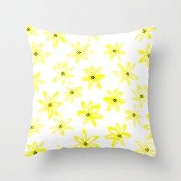 Yellow daisy flowers Throw Pillow