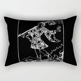 0. The Fool- White Line Tarot Rectangular Pillow