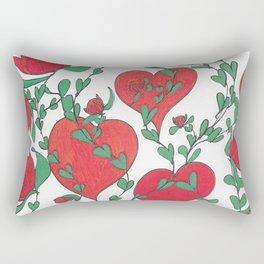 Hearts Bloom Rectangular Pillow