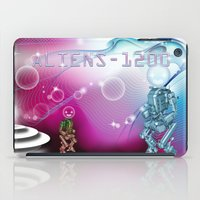 aliens iPad Cases featuring aliens by amanvel