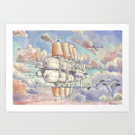 Il Veliero Volante Art Print