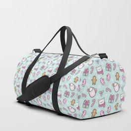 Cute Christmas // Green Duffle Bag