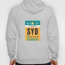 Baggage Tag A - SYD Sydney Australia Hoody