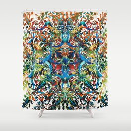 Bold Pattern Art - Color Fusion Design 8 By Sharon Cummings Shower Curtain