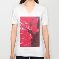 pain V-neck T-shirts featuring Pain by C-ARTon