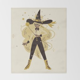 Bee Witch Throw Blanket