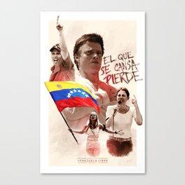 Venezuela's Resistance Canvas Print