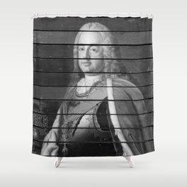 Jean-Etienne Liotard - Emperor Franz I, Empress Maria Theresa and Their Son Archduke Joseph Shower Curtain