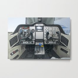168. Cockpit of the First All-Electric Propulsion Aircraft  Metal Print