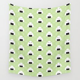 Kawaii Onigiri Rice Balls Wall Tapestry