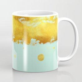 Gold Leaf on Mint Coffee Mug
