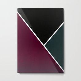 Noir Series - Red & Forest Metal Print