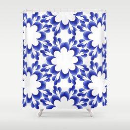 Ornament blue Shower Curtain