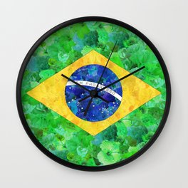 BRASIL em progresso Wall Clock