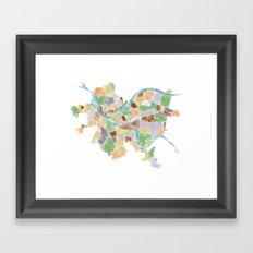 Pittsburgh Neighborhoods Framed Art Print