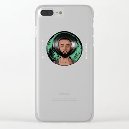 "Dexter Jordan ""Green Moon"" Clear iPhone Case"