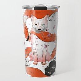 Red Kitsune Travel Mug