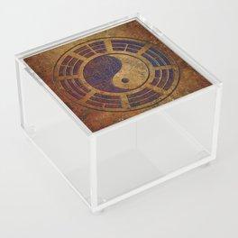 Purple Yin Yang Sign on Granite Acrylic Box