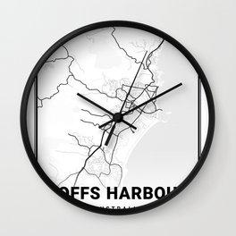 Coffs Harbour Light City Map Wall Clock
