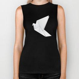 Origami pigeon Biker Tank
