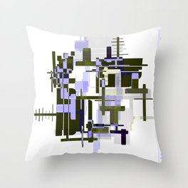 Abstract Seaweed Purple Design Throw Pillow