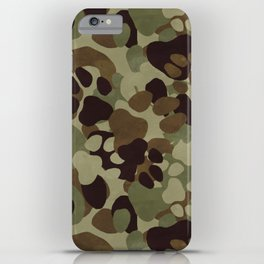 Camo Paws iPhone Case