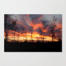 South Georgia Sky on Fire Canvas Print
