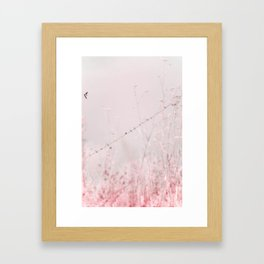 Birds on a wire II Framed Art Print