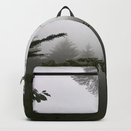 Fog in the forest Backpack