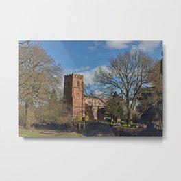 St Botolph's Church Newbold-on-Avon Metal Print