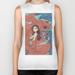 Mermaid, Dive Buddy Biker Tank