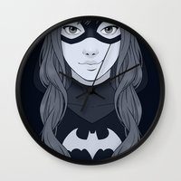 batgirl Wall Clocks featuring Batgirl by SoLaNgE-scf