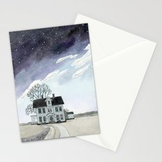 House under the Starry Skies Stationery Cards