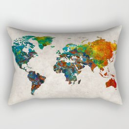 World Map 61 Rectangular Pillow