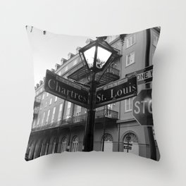 French Quarter, New Orleans streets Throw Pillow