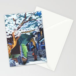 Under the Cherry Blossoms, Spring Stationery Cards