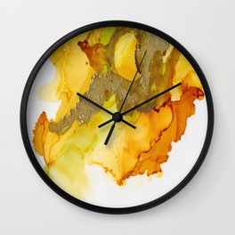 Gold Abstract 1 Wall Clock
