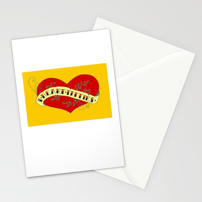 I Heart Titties, Colourful Stationery Cards