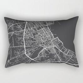 Palermo Map, Italy - Gray Rectangular Pillow