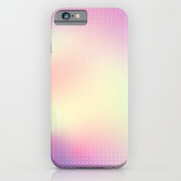 Soft Pastel Holographic Glowing Halftone Pattern iPhone Case