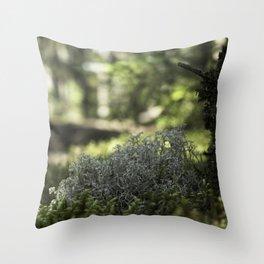 Mountain Forest Floor Throw Pillow