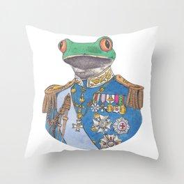Illustrious Frog Throw Pillow