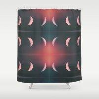 lunar Shower Curtains featuring Lunar Eclipse by Christine VanFonda